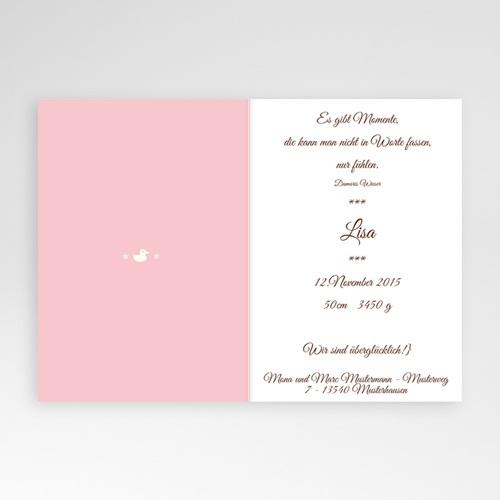 Adoptionskarten für Mädchen - Mädchen rosa 1 16830 thumb
