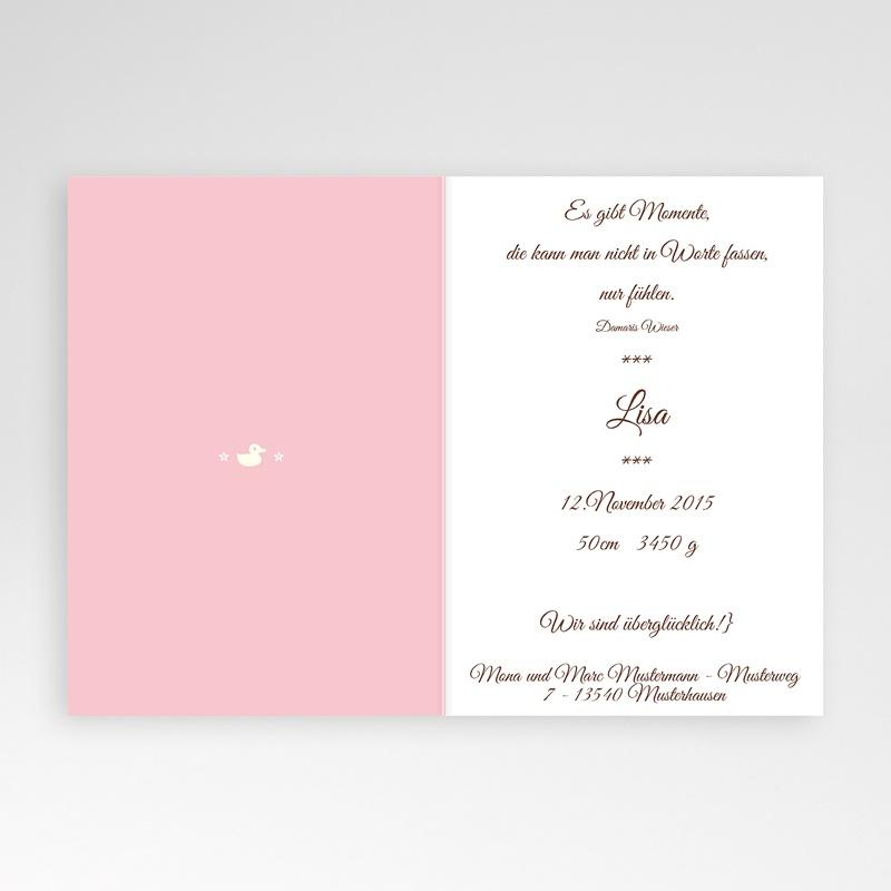 Adoptionskarten für Mädchen Mädchen rosa 1 pas cher