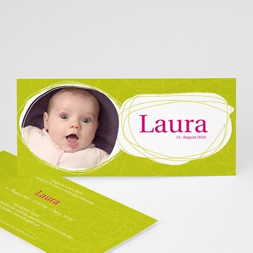 Geburtskarten für Mädchen - Kreisförmig 16858