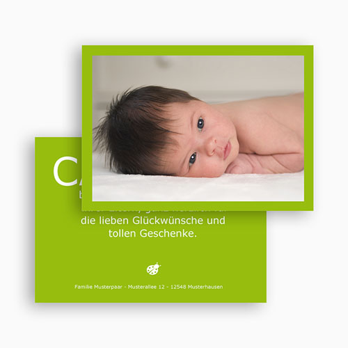 Dankeskarten Geburt Mädchen - Fynn 16895 test