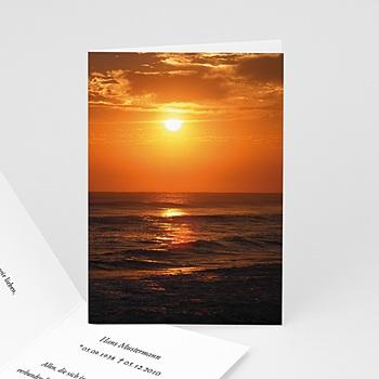 Trauer Danksagung weltlich - Trauerkarte 14 - 1