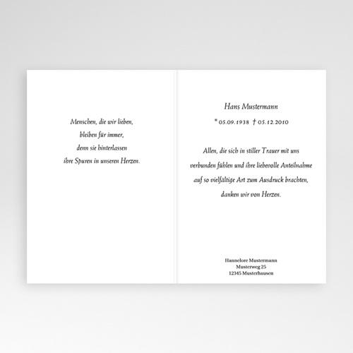 Trauer Danksagung weltlich - Mit Gott 16901 preview
