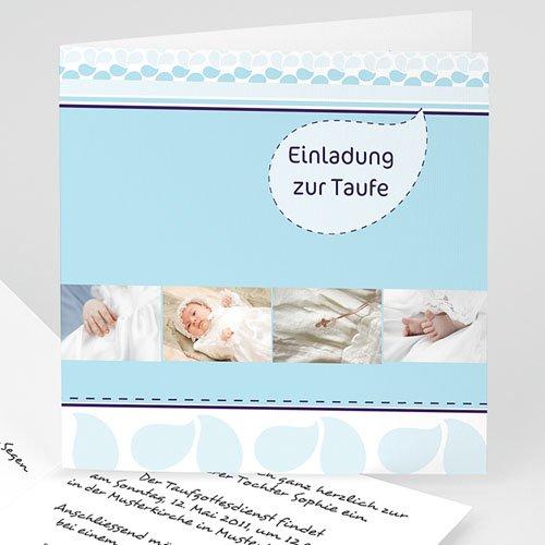 Einladungskarten Taufe Mädchen - Fotoreihe 16942 test