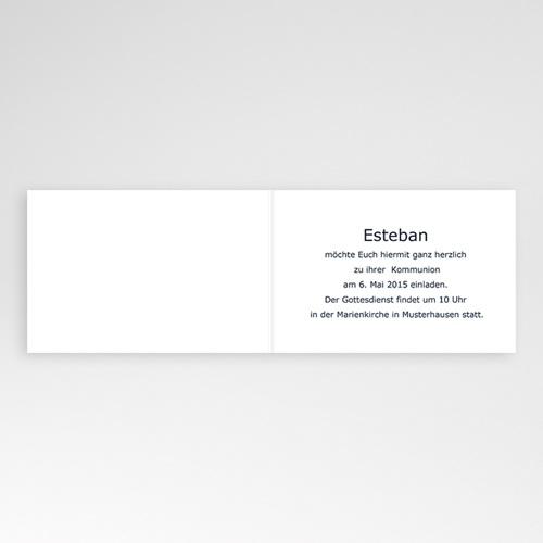 Einladungskarten Kommunion Jungen - Stilvoll gestreift 16986 preview