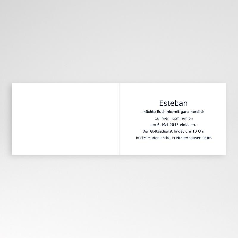 Einladungskarten Kommunion Jungen - Stilvoll gestreift 16986 thumb