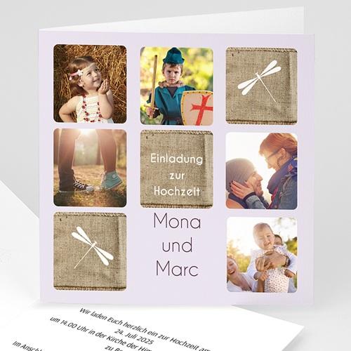 Hochzeitseinladungen modern - Hochzeitskarte Jessica 17005