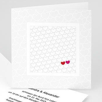 Einladungskarten Hochzeit  - Hochzeitskarte Jess - 1