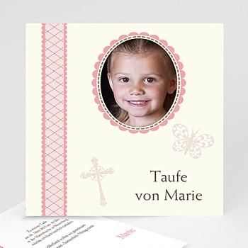Einladungskarten Taufe Mädchen - Taufkarte 3 - 1