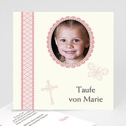 Einladungskarten Taufe Mädchen Zenta