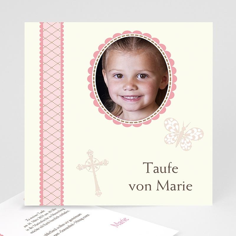 Einladungskarten Taufe für Mädchen Zenta
