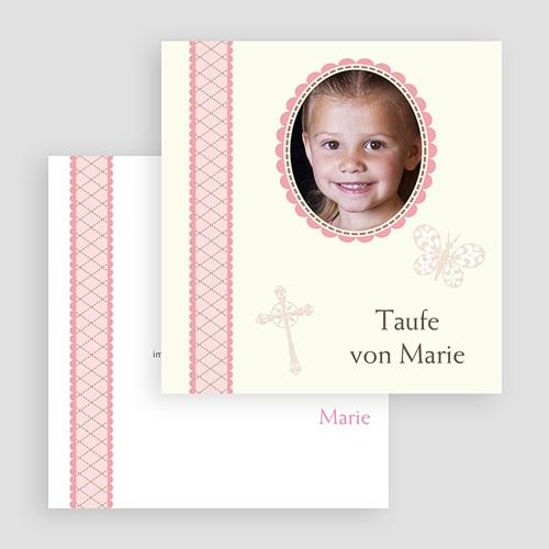 Einladungskarten Taufe für Mädchen Zenta gratuit