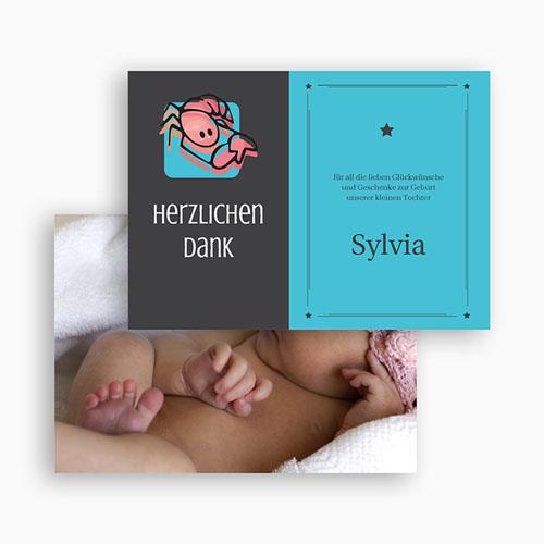 Dankeskarten Geburt Mädchen - Sternzeichen Skorpion 17091 preview