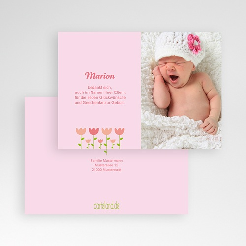 Dankeskarten Geburt Mädchen - Tulpen 17122 preview