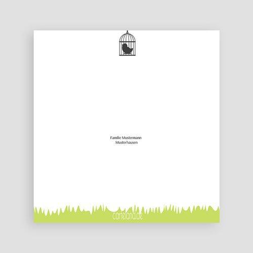 Dankeskarten Geburt Mädchen - Grüne Wiese 17125 thumb