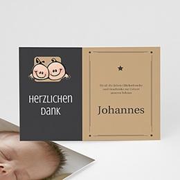 Dankeskarten Geburt Mädchen - Sterneichen Zwilling - 1