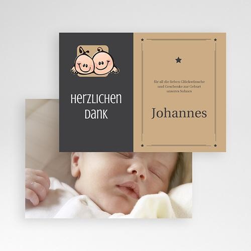 Dankeskarten Geburt Mädchen - Zwillingssterne 17129 preview