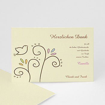 Dankeskarten Taufe Jungen - Einladungskarte Taube - 1