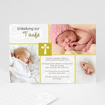 Einladungskarten Taufe Mädchen - Modern-Grün - 1