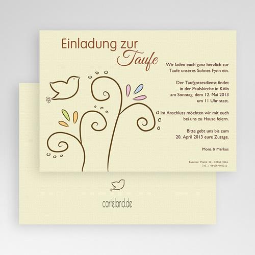 Einladungskarten Taufe Mädchen - Taube 17293 test