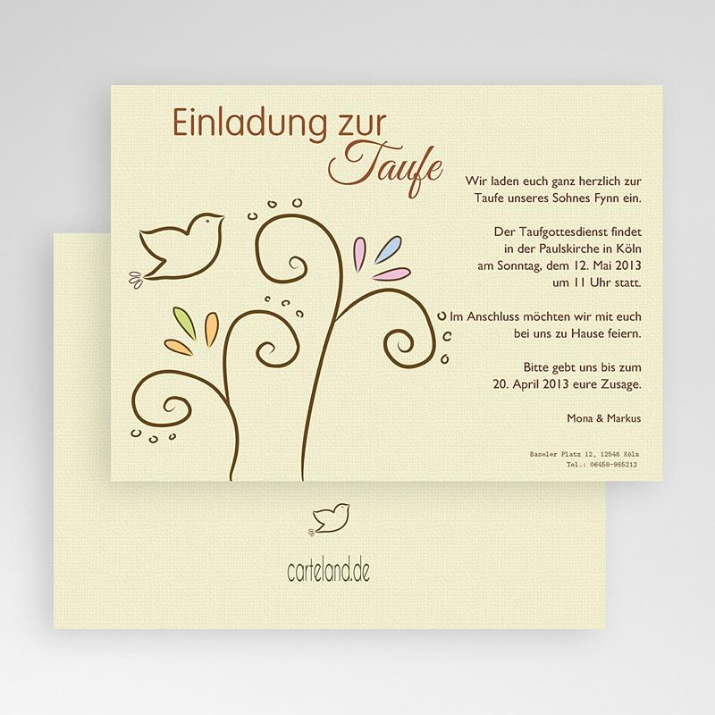 Einladungskarten Taufe Mädchen - Taube 17293 thumb