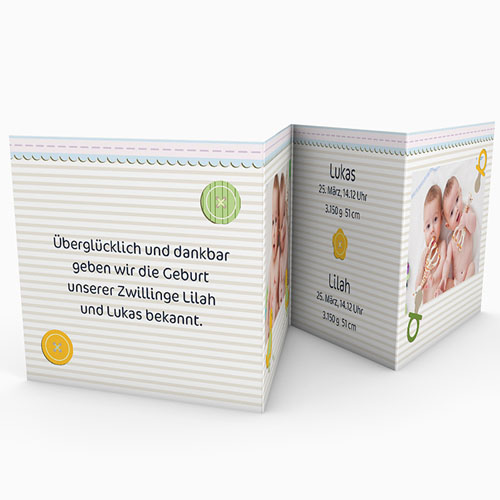 Babykarten für Zwillinge gestalten - Siamesisch 17295 test
