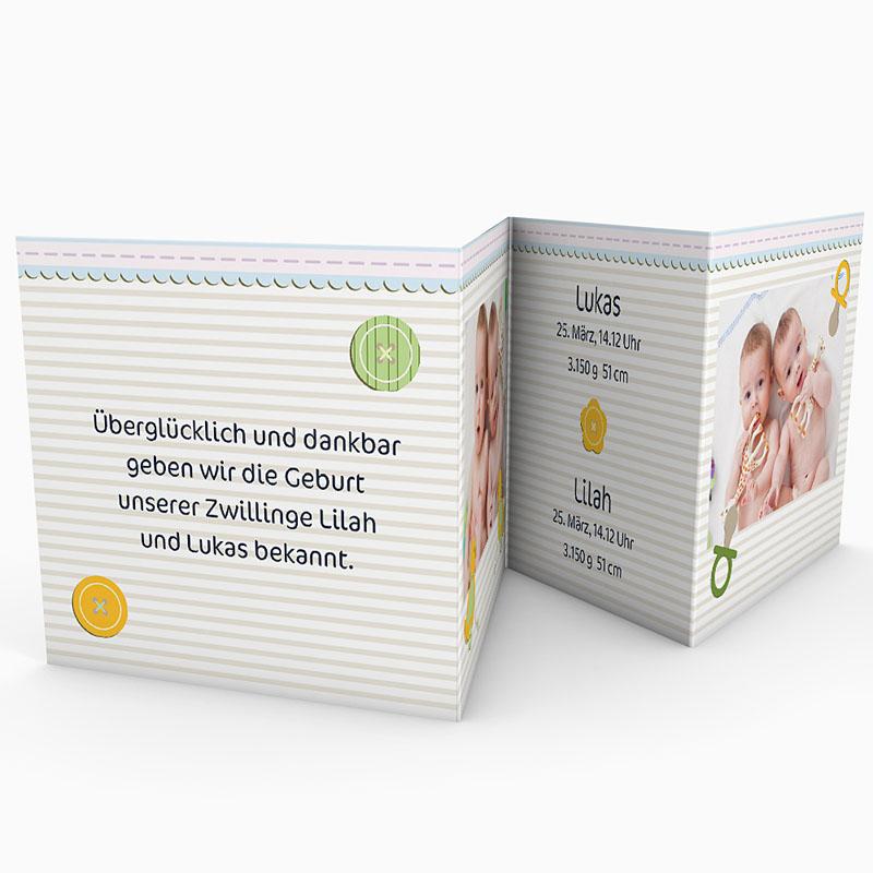 Babykarten für Zwillinge gestalten - Siamesisch 17295 thumb