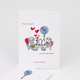 Einlegekarte Anniversaire mariage Tea-Time