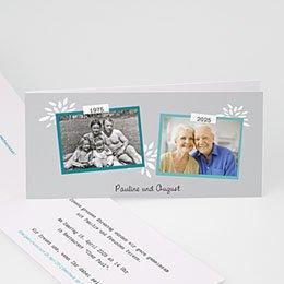 Einlegekarte Anniversaire mariage Zweisam
