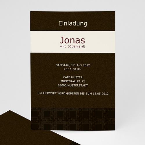 Erwachsener Einladungskarten Geburtstag Festlich