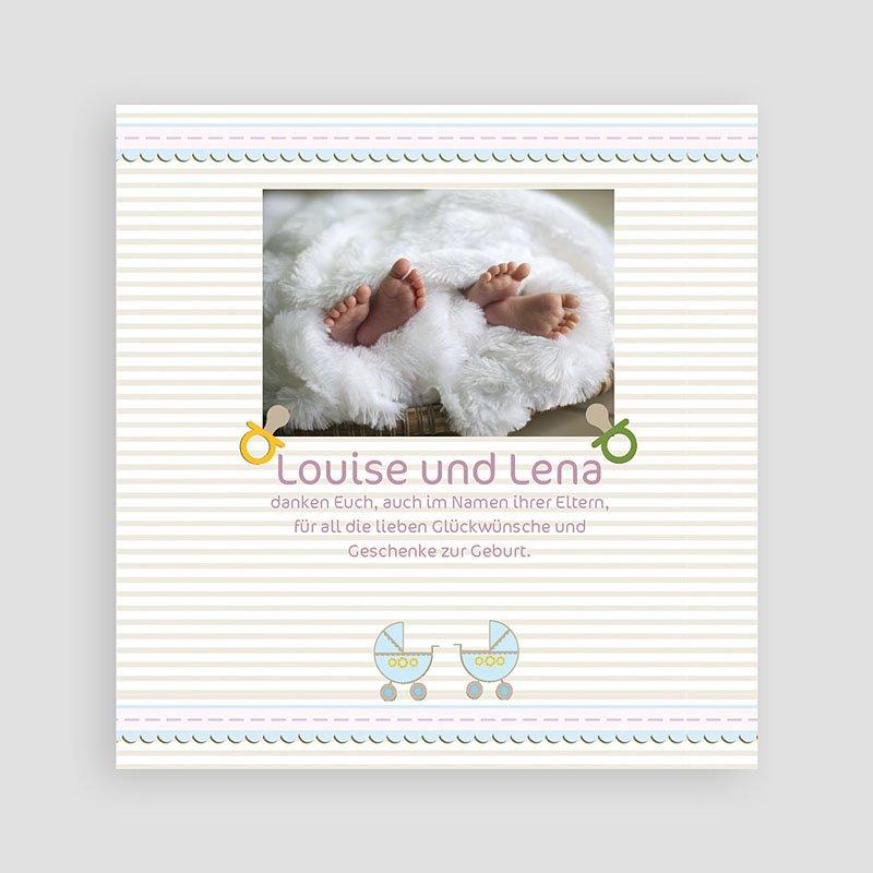 Dankeskarten Geburt für Zwillinge Für Zwillinge pas cher