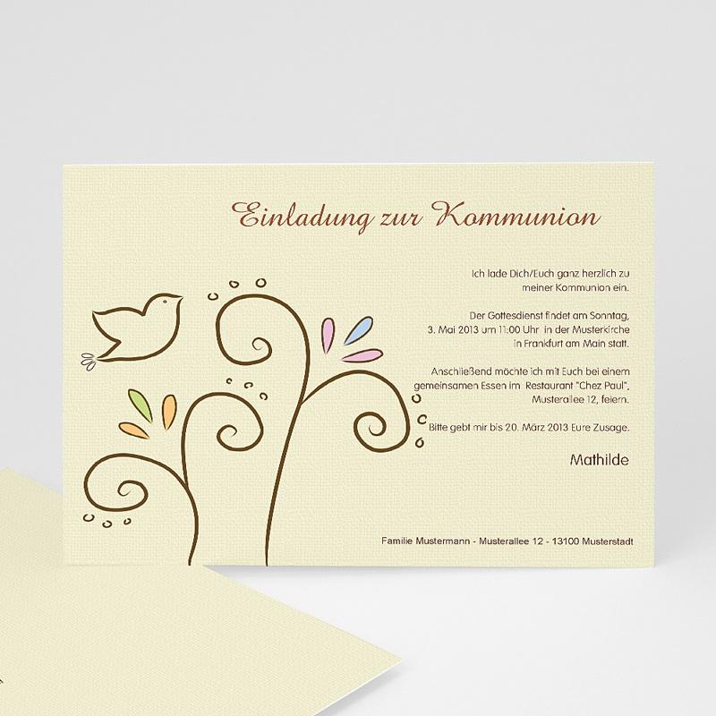 Einladungskarten Kommunion Mädchen - Heiliger Geist 17484 thumb
