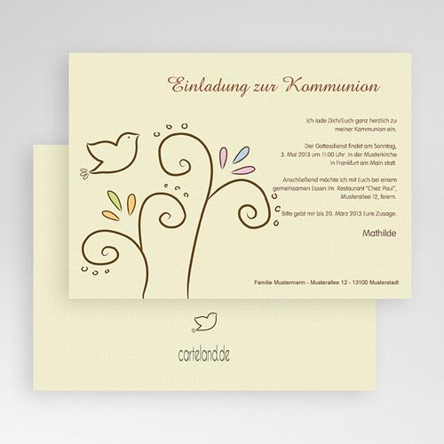 Einladungskarten Kommunion Mädchen - Heiliger Geist 17486 preview
