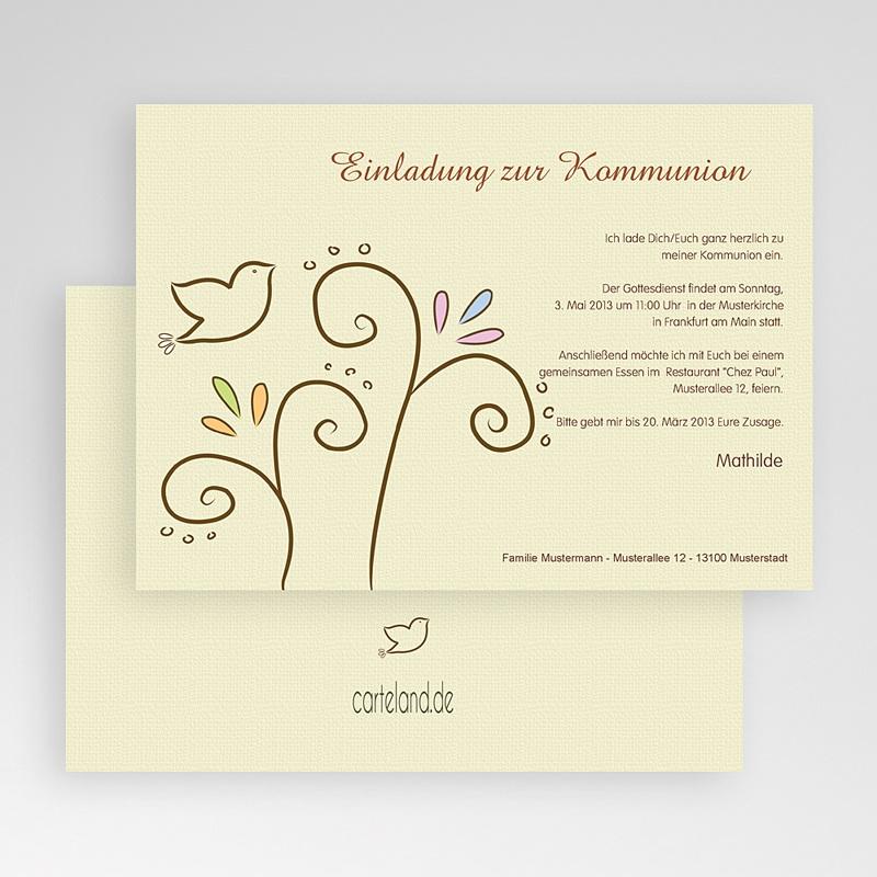 Einladungskarten Kommunion Mädchen - Heiliger Geist 17486 thumb