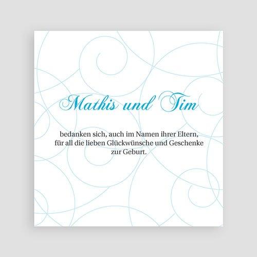 Dankeskarten Geburt Zwillinge - Schlicht und klassisch 17494 test