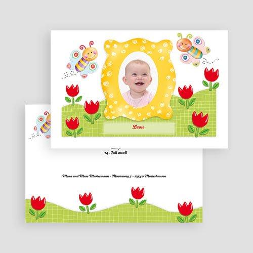 Geburtskarten für Mädchen - Schmetterlingsrahmen 17506 test