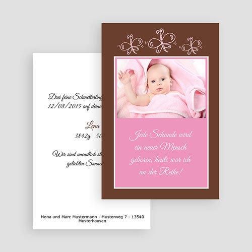 Geburtskarten für Mädchen - Rosa Schmetterlinge 17604 test