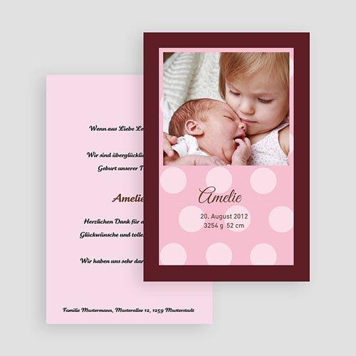 Geburtskarten für Mädchen Schlicht und modern gratuit