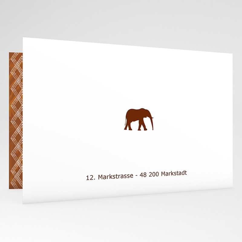 Adoptionskarten für Mädchen Ebenholz gratuit