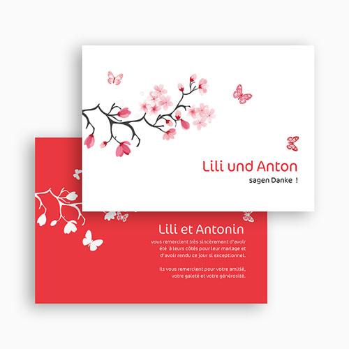 Danksagungskarten Hochzeit  Nippon gratuit