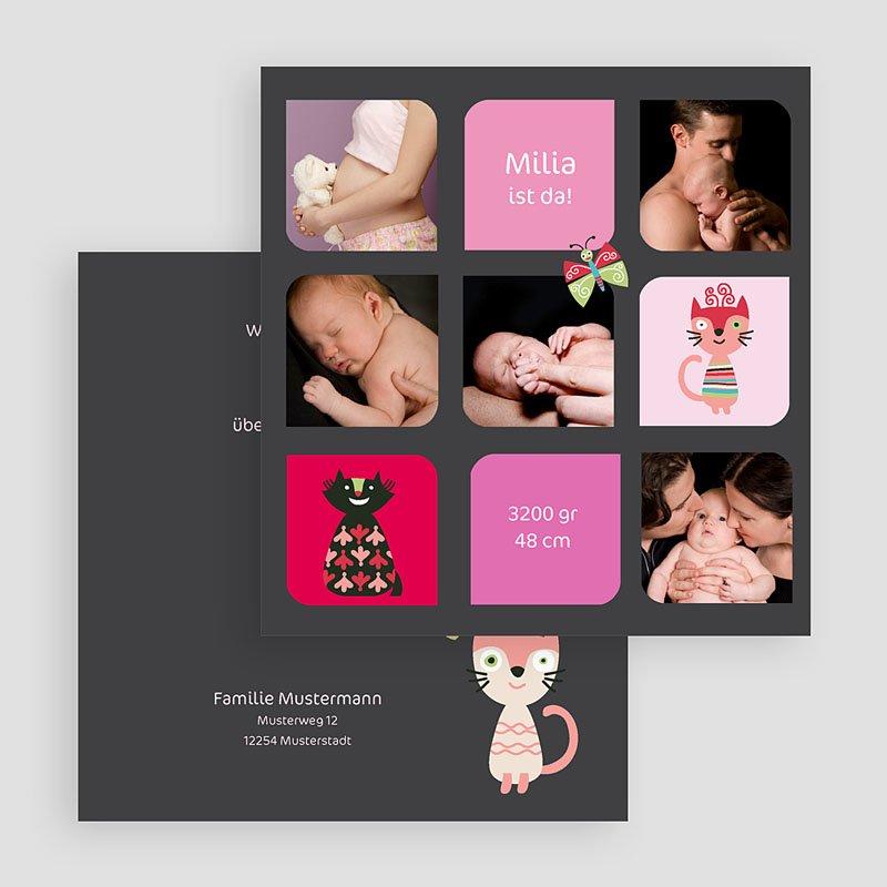 Geburtskarten für Mädchen Kätzchen gratuit
