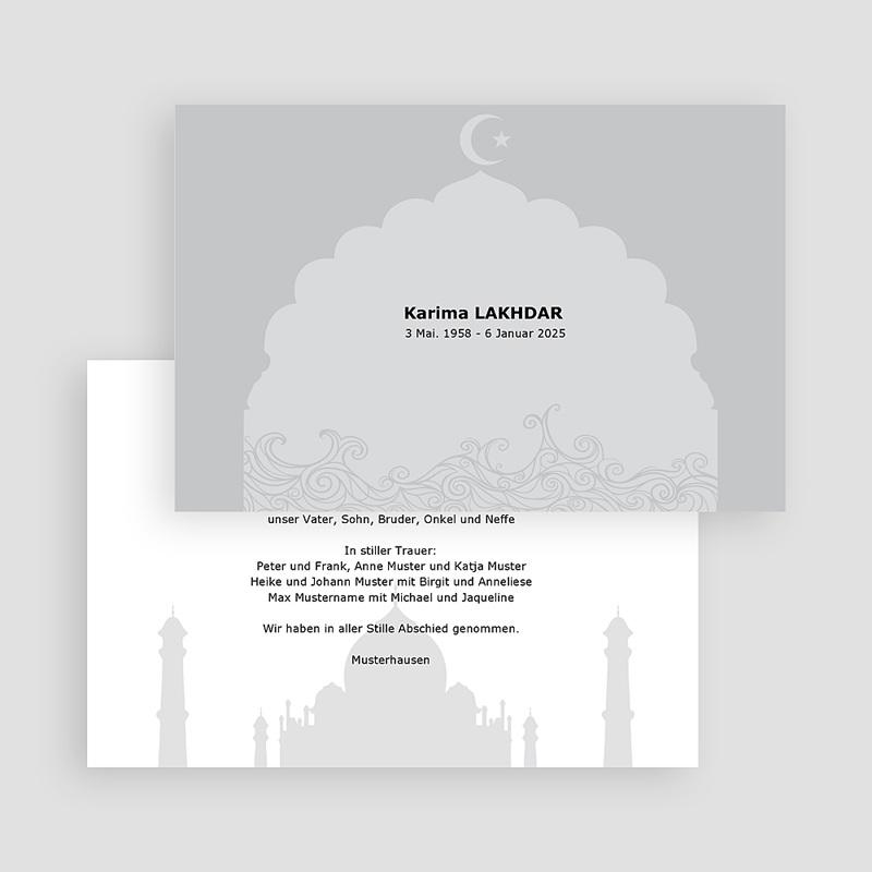 Muslimisch Dankeskarten Trauer Abid gratuit
