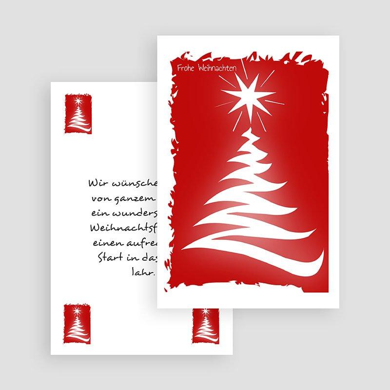 Geschäftliche Weihnachtskarten Tannenbaum gratuit