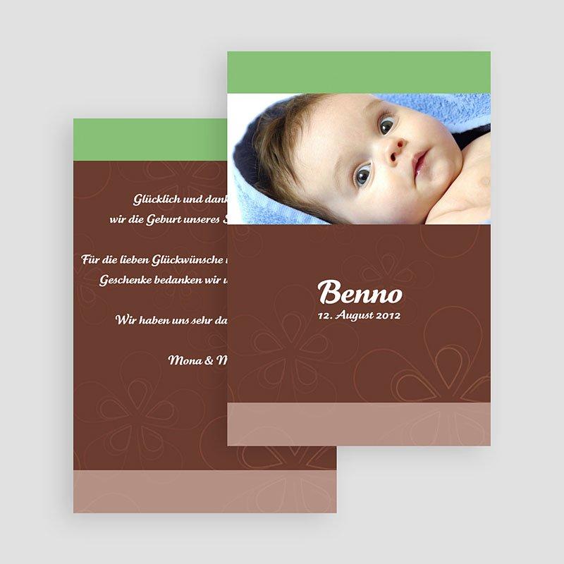 Geburtskarten für Mädchen - Anis Schokolade und Creme 17894 thumb