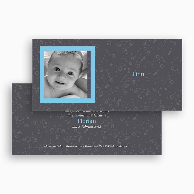 Geburtskarten für Mädchen - Grau blau 17896 thumb