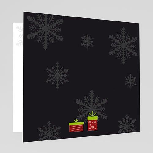 Weihnachtskarten - Weisse Flocken 17929 test