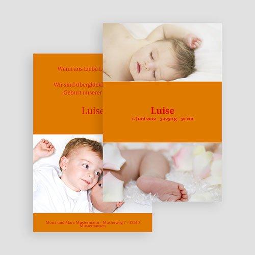 Geburtskarten für Mädchen - Schlichtes Design 17965 preview