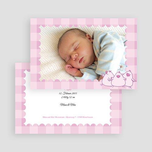 Geburtskarten für Mädchen - Karomuster 17969 test