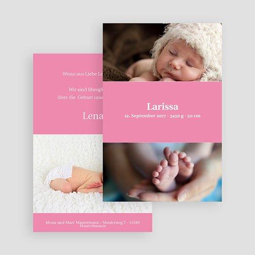 Geburtskarten für Mädchen - Rosa 18003 preview
