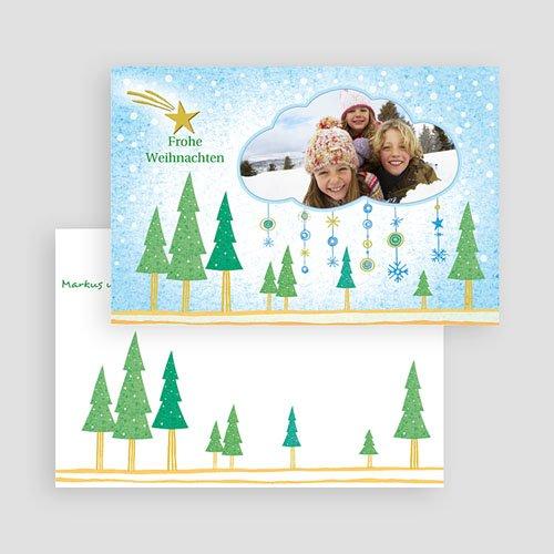 Weihnachtskarten - Stimmungsvolle Schneelandschaft 18007 preview