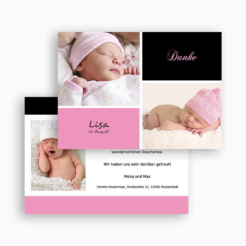 Dankeskarten Geburt Mädchen - Alia 18049 thumb
